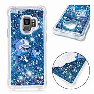 Недорогие Чехлы и кейсы для Galaxy S8 Plus-Кейс для Назначение SSamsung Galaxy S9 Plus / S8 Защита от удара / Движущаяся жидкость / Прозрачный Кейс на заднюю панель Животное / Сияние и блеск Мягкий ТПУ для S9 / S9 Plus / S8 Plus