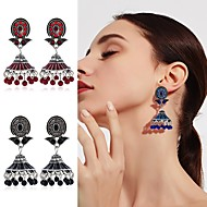 cheap -1 Pair Women's Vintage Style Drop Earrings - Imitation Pearl Gold Plated Ethnic Jewelry Black / Gold / Red / Blue For Stage Holiday