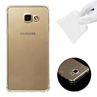 Недорогие Чехлы и кейсы для Galaxy A7(2016)-Кейс для Назначение SSamsung Galaxy A7(2016) Защита от удара / Прозрачный Кейс на заднюю панель Однотонный Мягкий ТПУ для A7(2016)