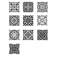 tanie -Dekoracyjne naklejki ścienne - Naklejki ścienne 3D Abstrakcja / Arabeska Łazienka / Kuchnia