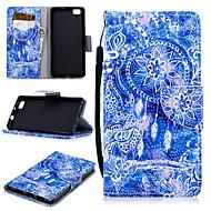 preiswerte Handyhüllen-Hülle Für Huawei P8 Lite Geldbeutel / Kreditkartenfächer / Stoßresistent Ganzkörper-Gehäuse Traumfänger Hart PU-Leder für Huawei P8 Lite