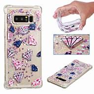 Недорогие Чехлы и кейсы для Galaxy Note 8-Кейс для Назначение SSamsung Galaxy Note 9 / Note 8 Защита от удара / Движущаяся жидкость / Прозрачный Кейс на заднюю панель Пейзаж / Сияние и блеск Мягкий ТПУ для Note 9 / Note 8