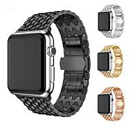 Bracelet de Montre  pour Apple Watch Series 4/3/2/1 Apple Boucle Moderne Métallique Sangle de Poignet