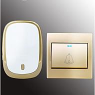 رخيصةأون -لاسلكي واحد إلى واحد الجرس موسيقى / دينغ دونغ جرس الباب غير المرئية في السطح
