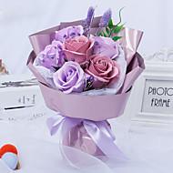 economico -Fiori Artificiali 1 Ramo Classico Bouquet sposa Modern Rose Fiori da tavolo