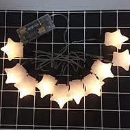 tanie -2 m Łańcuchy świetlne 10 Diody LED Żółty Dekoracyjna Zasilanie bateriami AA 1 zestaw
