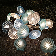 tanie -2 m Łańcuchy świetlne 20 Diody LED Ciepła biel Dekoracyjna 5 V 1 zestaw