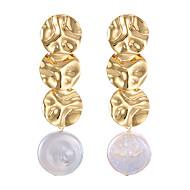 preiswerte -Damen Geometrisch Tropfen-Ohrringe - Einfach Schmuck Gold Für Strasse Klub 1 Paar