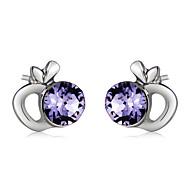 levne -Dámské Fialová Křišťál Peckové náušnice - Ovoce Jednoduchý Módní Moderní Šperky Stříbrná Pro Denní Formální 1 Pair