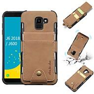 ieftine -Maska Pentru Samsung Galaxy J6 / J4 Portofel / Titluar Card / Anti Șoc Capac Spate Mată Moale PU piele pentru J8 (2018) / J6 (2018) / J6 Plus