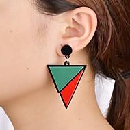 preiswerte -Damen Geometrisch Tropfen-Ohrringe - Einfach Modisch Modern Schmuck Regenbogen / Schwarz / weiss Für Normal Alltag 1 Paar