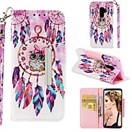 ราคาถูก -Case สำหรับ Samsung Galaxy S9 Plus / S8 Wallet / Card Holder / Shockproof ตัวกระเป๋าเต็ม นกฮูก / จับฝัน Hard หนัง PU สำหรับ S9 / S9 Plus / S8 Plus