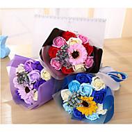 economico -Fiori Artificiali 1 Ramo Classico Bouquet sposa Modern Rose Girasoli Fiori da tavolo