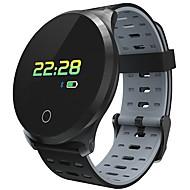 JSBP L5PLUS Masculino Pulseira inteligente Android iOS Bluetooth Smart Impermeável Monitor de Batimento Cardíaco Medição de Pressão Sanguínea Tela de toque Podômetro Aviso de Chamada Monitor de