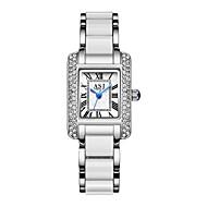 저렴한 -ASJ 여성용 드레스 시계 일본 쿼츠 화이트 / 로즈 골드 캐쥬얼 시계 아날로그 패션 미니멀리스트 - 화이트 로즈 골드 1 년 배터리 수명 / SSUO SR626SW + CR2025