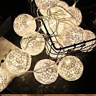 tanie -1.5 m Łańcuchy świetlne 10 Diody LED Ciepła biel Dekoracyjna Zasilanie bateriami AA 1 zestaw