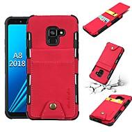 ieftine -Maska Pentru Samsung Galaxy A8 2018 / A5(2017) Portofel / Titluar Card / Anti Șoc Capac Spate Mată Moale PU piele pentru A5 (2017) / A8 2018 / J7 (2018)