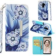 ราคาถูก -Case สำหรับ Samsung Galaxy S9 Plus / S8 Wallet / Card Holder / Shockproof ตัวกระเป๋าเต็ม ดอกไม้ Hard หนัง PU สำหรับ S9 / S9 Plus / S8 Plus