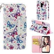 ราคาถูก -Case สำหรับ Samsung Galaxy S9 Plus / S8 Wallet / Card Holder / Shockproof ตัวกระเป๋าเต็ม Butterfly Hard หนัง PU สำหรับ S9 / S9 Plus / S8 Plus