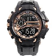 저렴한 -남성용 스포츠 시계 디지털 시계 디지털 퀼트 인조 가죽 블랙 / 실버 방수 야광 디지털 캐쥬얼 패션 - 레드 그린 블루
