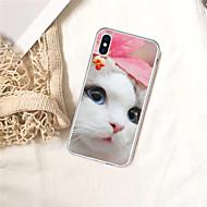 economico -Custodia Per Apple iPhone XS / iPhone XR Fantasia / disegno Per retro Gatto Morbido TPU per iPhone XS / iPhone XR / iPhone XS Max