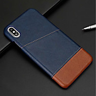 Etui Til Apple iPhone XR / iPhone XS Max Kortholder Bagcover Ensfarvet Hårdt PU Læder for iPhone XS / iPhone XR / iPhone XS Max