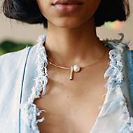 levne -Dámské Geometrické Tork - Perly Jednoduchý, Módní Cool Zlatá, Stříbrná 49 cm Náhrdelníky Šperky 1ks Pro Denní