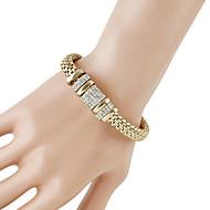 levne -Dámské Silný řetězec Řetězové & Ploché Náramky - Moderní, Módní Náramky Šperky Zlatá Pro Denní Rande