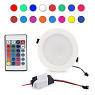 ieftine -1 buc 5 W 300-500 lm 5 LED-uri de margele Telecomandă Intensitate Luminoasă Reglabilă Ușor de Instalat LED Tavan RGB + alb 85-265 V Rezidențial Acasă / Birou Living / Dinning
