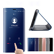 Etui Til Xiaomi Mi 8 / Mi 9 Belægning / Spejl / Flip Fuldt etui Ensfarvet Hårdt PC / silica Gel for Mi Note 3 / Xiaomi Mi 8 / Xiaomi Mi 8 SE