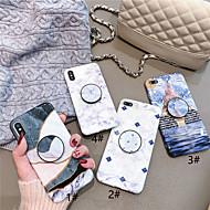 fodral Till Apple iPhone XR / iPhone XS Max med stativ / Ultratunt / Mönster Skal Marmor Mjukt TPU för iPhone XS / iPhone XR / iPhone XS Max