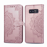 cheap -Case For Samsung Galaxy Note 8 Card Holder / Flip Full Body Cases Solid Colored Hard PU Leather for Note 8