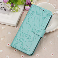 cheap -Case For Huawei Huawei Honor 8X Wallet / Card Holder / with Stand Full Body Cases Animal / Elephant Hard PU Leather for Huawei Nova 3i / Huawei Honor 8X / Huawei Honor 7A