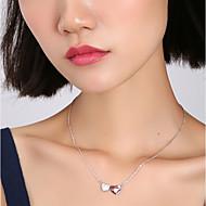 저렴한 -여성용 목걸이 하트 핑크 40+5 cm 목걸이 보석류 1 개 제품 생일 선물 애인 제전