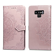 cheap -Case For Samsung Galaxy Note 9 Card Holder / Flip Full Body Cases Solid Colored Hard PU Leather for Note 9