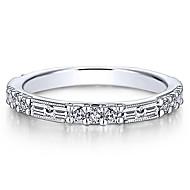 Χαμηλού Κόστους -Γυναικεία Λευκό Cubic Zirconia Κλασσικό Δαχτυλίδι Δαχτυλίδι ουράς Eternity Ring Χαλκός Με Επίστρωση Ροζ Χρυσού Ευρωπαϊκό Μοντέρνο Μοδάτο Δαχτυλίδι Κοσμήματα Λευκό / Χρυσό Τριανταφυλλί Για