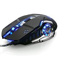 povoljno -OEM V5 Žičani USB Optical igraći miš / Silent miš Vodio je svjetlo disanja 3200 dpi 6 Podesive DPI razine 6 pcs ključevi 6 tipki s mogućnošću programiranja