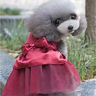 economico -Prodotti per cani Vestiti Abbigliamento per cani Cristalli Rosso Rosa Cachi Miscela polyester / cotone Costume Per Primavera & Autunno Estate Per femmina Stile romantico Da serata