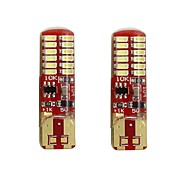 cheap -2pcs T10 / W5W Car Light Bulbs 2 W SMD 3014 250 lm 24 LED License Plate Lights / Turn Signal Lights / Tail Lights For universal All years