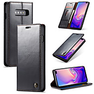 Nillkin Etui Til Samsung Galaxy Galaxy S10 / Galaxy S10 Plus Pung / Kortholder / Med stativ Fuldt etui Ensfarvet Hårdt PU Læder for S9 / S9 Plus / S8 Plus