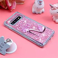 cheap -Case For Samsung Galaxy Galaxy S10 Plus / Galaxy S10 E Shockproof / Flowing Liquid / Pattern Back Cover Lace Printing / Glitter Shine Soft TPU for S9 / S9 Plus / S8 Plus