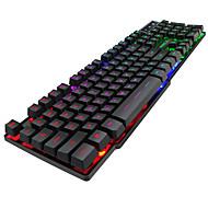 Χαμηλού Κόστους -IMICE AK600 USB Ενσύρματο πληκτρολόγιο Gaming πληκτρολόγιο πολυμέσων Φωτίζει Multi χρώμα backlight 104 pcs Κλειδιά