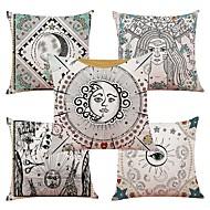 cheap -5 pcs Linen Pillow Cover, Special Design Classic New Arrival European Style