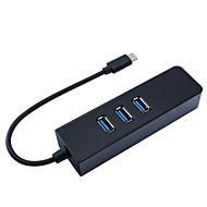 tanie -USB 3.1 Typ C to USB 3.0 / RJ45 Rozdzielacz USB 4 Porty Funkcja HOLD / Z siecią Ethernet