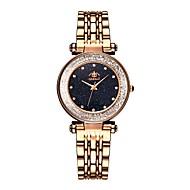 levne -Dámské Náramkové hodinky zlaté hodinky Křemenný Nerez Černá / Modrá / Hnědá Voděodolné Nový design Analogové Vintage Módní - Hnědá Modrá Růžové zlato