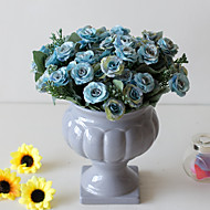 cheap -Artificial Flowers 2 Branch Classic Wedding Pastoral Style Roses Eternal Flower Tabletop Flower