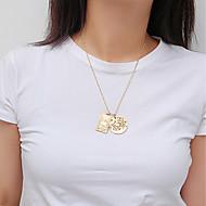 זול -בגדי ריקוד נשים שרשראות תליון שרשרת זהב כסף 46 cm שרשראות תכשיטים 1pc עבור מתנה יומי פגישה (דייט) יום הולדת פֶסטִיבָל