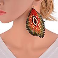 Χαμηλού Κόστους -Γυναικεία Πολύχρωμο Γεωμετρική Κρεμαστά Σκουλαρίκια Σκουλαρίκια Ευρωπαϊκό Κοσμήματα Κόκκινο Για Καθημερινά 1 Pair