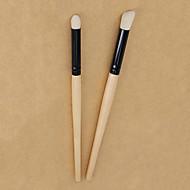 お買い得  -プロ メイクブラシ 2pcs エコ プロフェッショナル ソフト フルカップ 合成 竹 にとって 化粧用ブラシ アイシャドウブラシ
