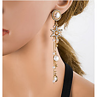 Χαμηλού Κόστους -Γυναικεία Πολύχρωμο Cubic Zirconia Πολυέλαιος Κρεμαστά Σκουλαρίκια Μαργαριτάρι Ασημί Σκουλαρίκια Ευρωπαϊκό Κοσμήματα Χρυσό Για Καθημερινά 1 Pair